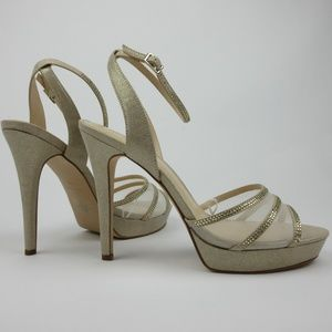 Nine West Womens Size 9.5 High Heel Strap Shoes
